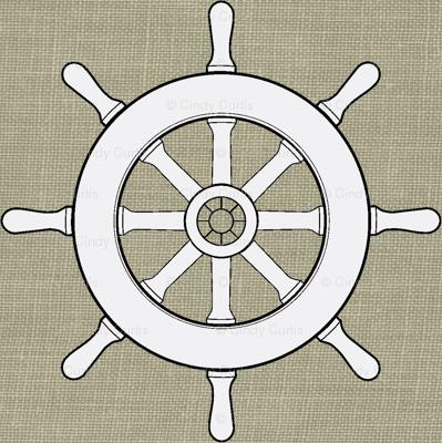 Captain's Wheel in White