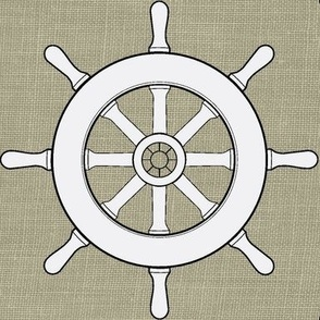 Captain's Wheel in White