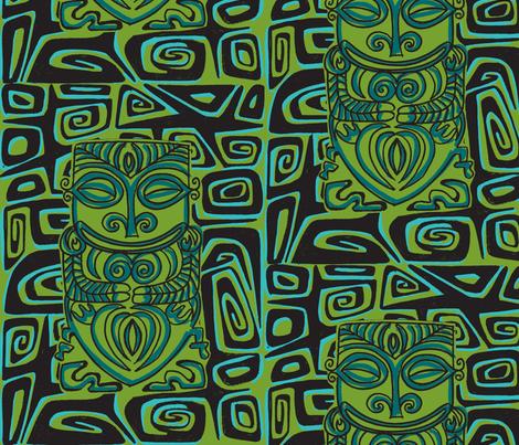 Thaitian Canibal, beachnic fabric by sophista-tiki_by_dawn_frasier on Spoonflower - custom fabric