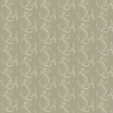 Anchors in Linen fabric by softnyellow on Spoonflower - custom fabric
