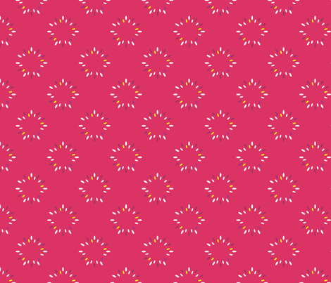 flowers_pink fabric by oohoo on Spoonflower - custom fabric