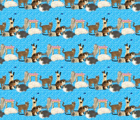 KittyStripes fabric by tallulahdahling on Spoonflower - custom fabric