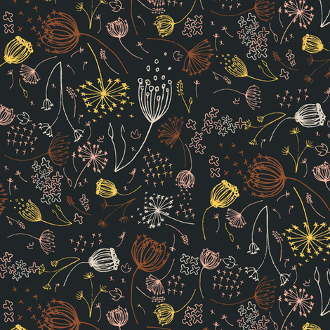 Queeny Brass fabric by daniellerenee on Spoonflower - custom fabric