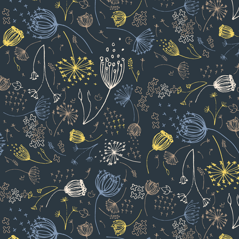 Queeny Navy fabric by daniellerenee on Spoonflower - custom fabric