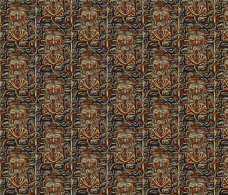 Tahitian Canibal, traditional fabric by sophista-tiki_by_dawn_frasier on Spoonflower - custom fabric