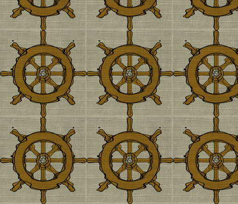 The Captain's Wheel  fabric by softnyellow on Spoonflower - custom fabric