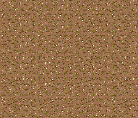 Little xmas in brown fabric by catru on Spoonflower - custom fabric