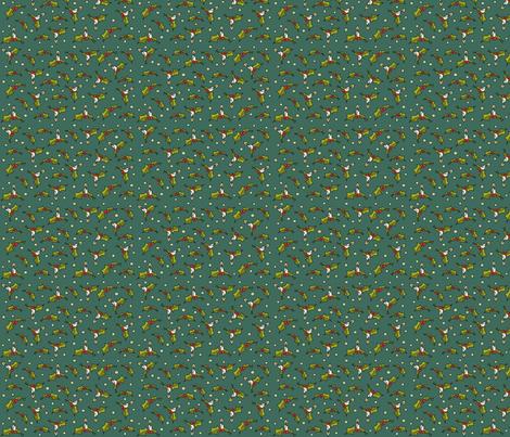 Little xmas - green fabric by catru on Spoonflower - custom fabric