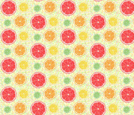 Citrus Pointillism fabric by eppiepeppercorn on Spoonflower - custom fabric