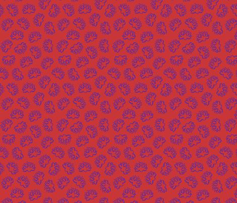 Lotus (Red/Purple) fabric by shirayukin on Spoonflower - custom fabric