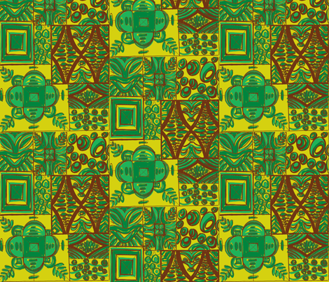 Mana Mohala sprout fabric by sophista-tiki_by_dawn_frasier on Spoonflower - custom fabric