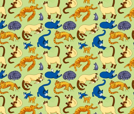 Assorted Cats fabric by natashad on Spoonflower - custom fabric