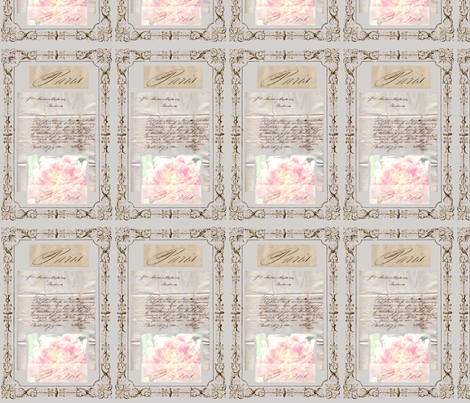 French Ephemera fabric by karenharveycox on Spoonflower - custom fabric
