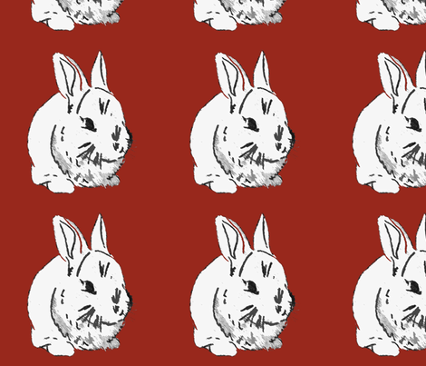 Year_of_the_Rabbit fabric by dry_wit_goods on Spoonflower - custom fabric