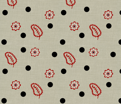 rabbit dots fabric by paragonstudios on Spoonflower - custom fabric