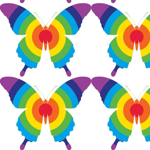 rainbow butterfly print