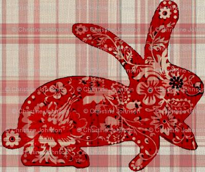 rabbit / plaid