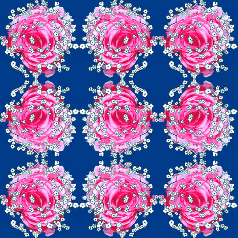 Falling into the Flower fabric by robin_rice on Spoonflower - custom fabric