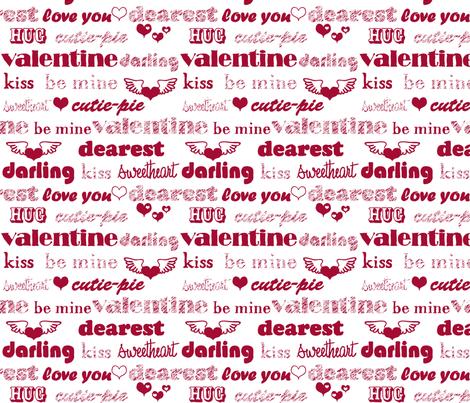 Be My Valentine fabric by jmckinniss on Spoonflower - custom fabric