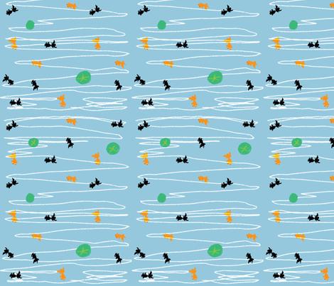 goldfish fabric by tamptation on Spoonflower - custom fabric