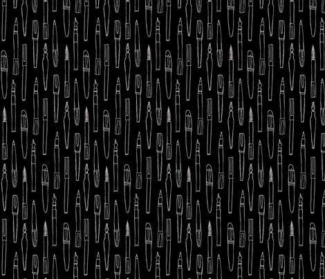 Feeling Pensive (black) fabric by leighr on Spoonflower - custom fabric