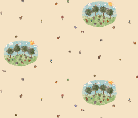 Woodland Critters fabric by leighr on Spoonflower - custom fabric