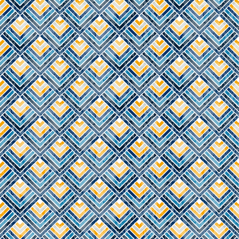 Pointed Scales (Blue) fabric by leighr on Spoonflower - custom fabric