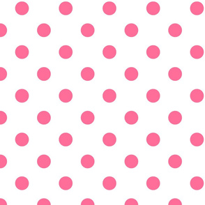 White with Pink Polka Dots