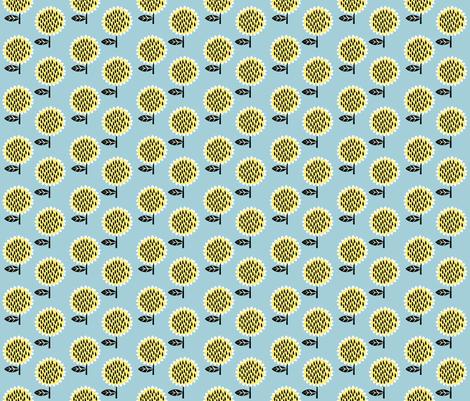 sunflowers fabric by anda on Spoonflower - custom fabric
