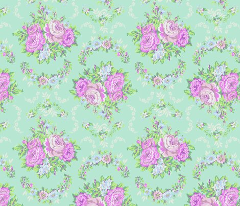 Rose brocade light blue fabric marla wonboy spoonflower - Light blue linen wallpaper ...