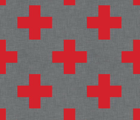 plus_one_red_linen fabric by holli_zollinger on Spoonflower - custom fabric