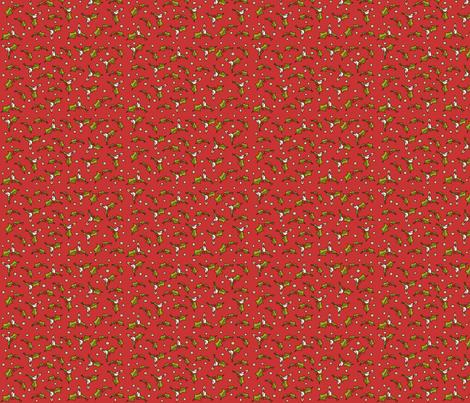 Little xmas - red fabric by catru on Spoonflower - custom fabric