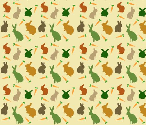Multiplyin' Like Bunnies fabric by beingreen on Spoonflower - custom fabric