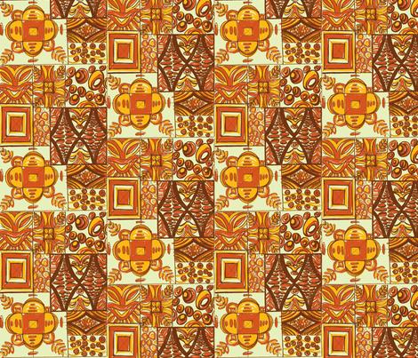 Mana Mohala earth fabric by sophista-tiki_by_dawn_frasier on Spoonflower - custom fabric