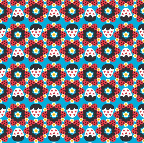 Strawberry o'Clock! fabric by pinkupinkupinku on Spoonflower - custom fabric