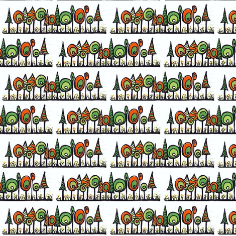 Orange and green trees_sm fabric by orangesweater on Spoonflower - custom fabric