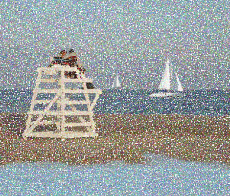 Beach Dream fabric by poetryqn on Spoonflower - custom fabric
