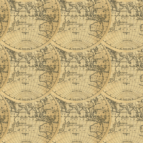 hemisphere world -1830 fabric by ravynka on Spoonflower - custom fabric