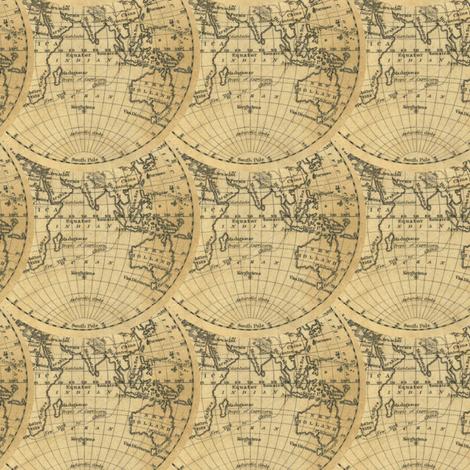 hemisphere world -1830 fabric by ravynka on Spoonflower - custom fabric