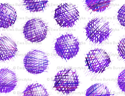 sketchy dots - purple on white
