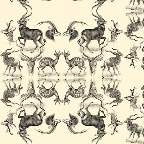Antelopes fabric by ravynka on Spoonflower - custom fabric
