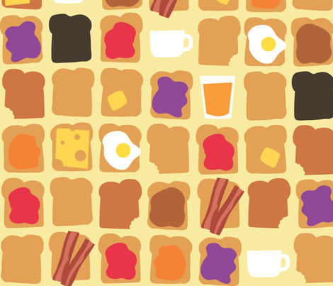 What's for breakfast? fabric by theboerwar on Spoonflower - custom fabric