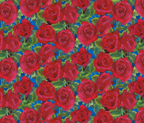 roses fabric by erinwilliams on Spoonflower - custom fabric