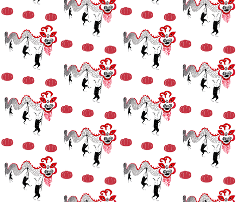 year_of_the_rabbit_parade1 fabric by krikany on Spoonflower - custom fabric