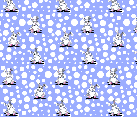 Bunny Brigade fabric by kiniart on Spoonflower - custom fabric
