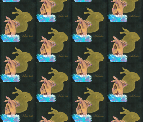 (Y)ear of the Rabbit fabric by elenamalec on Spoonflower - custom fabric