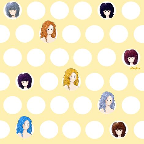 Girl Power fabric by kiniart on Spoonflower - custom fabric