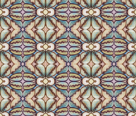 Cowrie Shells all in a Row fabric by susaninparis on Spoonflower - custom fabric