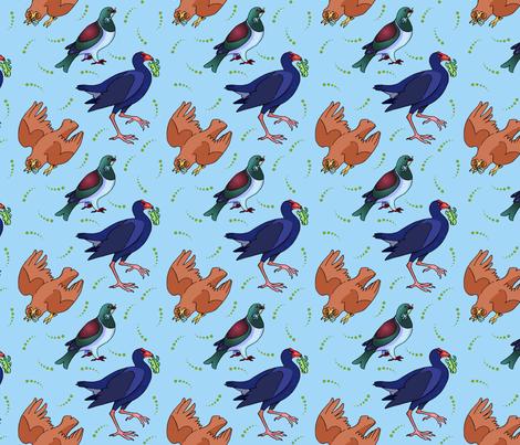 New Zealand Birds fabric by natashad on Spoonflower - custom fabric