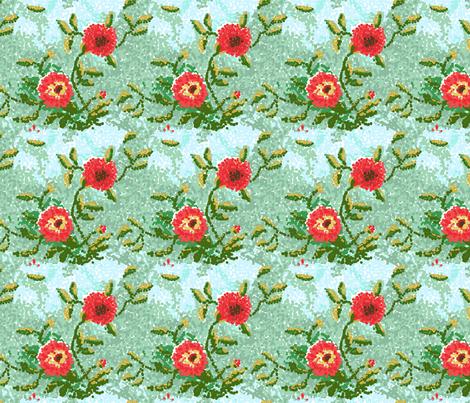 dot dahlias__1_edit2-ch fabric by khowardquilts on Spoonflower - custom fabric